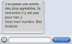 message sms rencontre