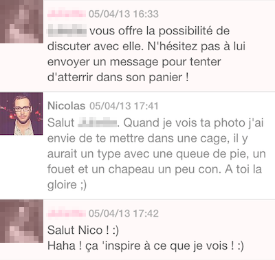 Message site de rencontre